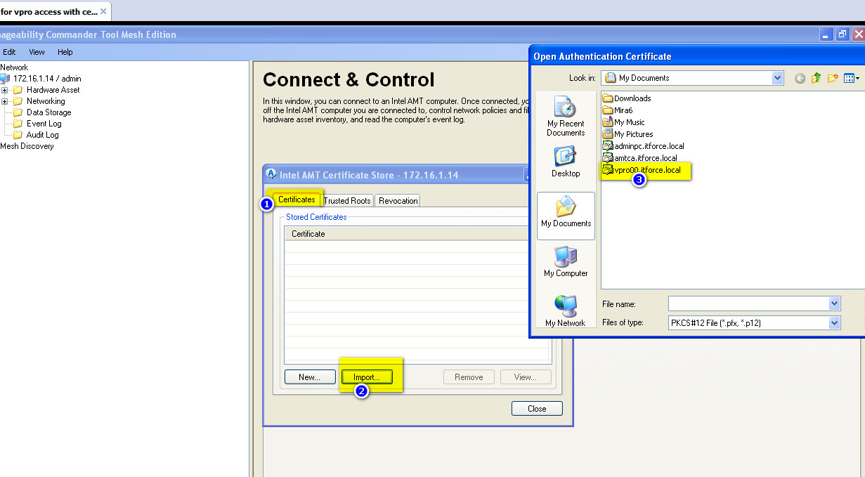 How to enable for vPro/AMT computers mutual authentication